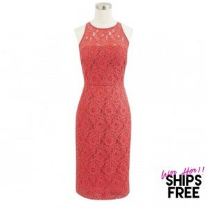 J. Crew Collection Lace Sheath Poppy Dress #0522